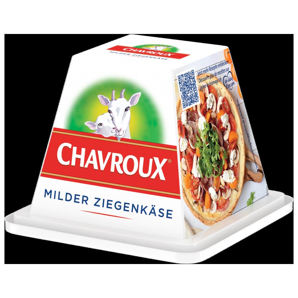 Vegetarisches Schnitzel, gefüllt mit Chavroux