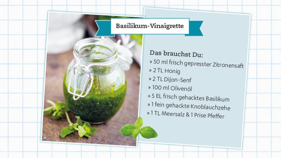 Rezept für leckere Basilikum Vinaigrette